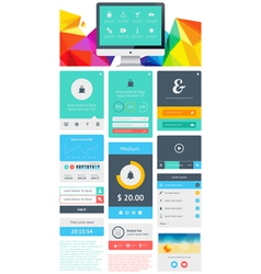 UI is a set components featuring the flat design vector image vector image