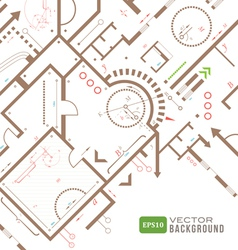 Abstract architectural plan vector image vector image