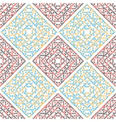 Abstract seamless pattern red blue vector