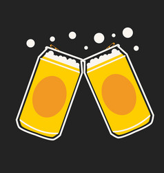 beer can cartoon vector image