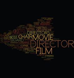 Director word cloud concept vector