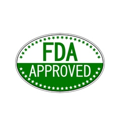 FDA approved oval sticker vector image vector image