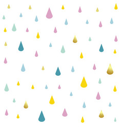 kids pattern rain drops vector image