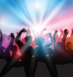 Party crowd background vector image vector image