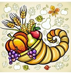 thanksgiving theme vector image