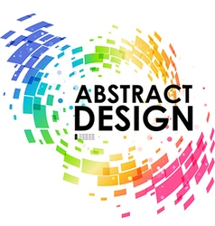 Abstract geometric colorful circular background vector image vector image