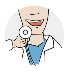 doctor examines icon vector image vector image