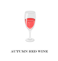 glass of red wine autumn time vector image vector image