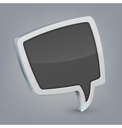 Gray cloud speech vector image