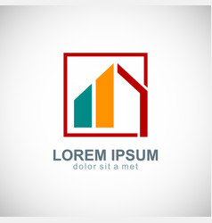 home shape design logo vector image