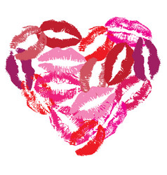 lip heart vector image