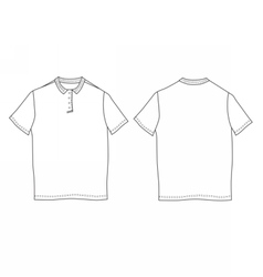 Polo shirt template Front and back views vector image