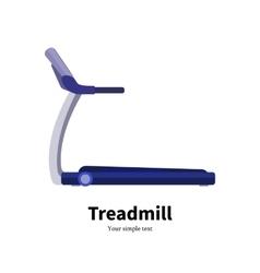 training apparatus treadmill vector image