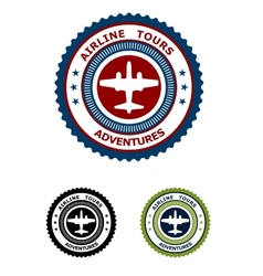 airlines tour adventures symbol vector image