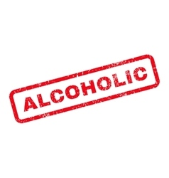 Alcoholic Text Rubber Stamp vector image