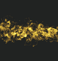 Array with dynamic particles motion effect vector
