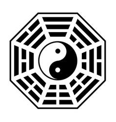 bagua - symbol of taoism o daoism flat icon vector image