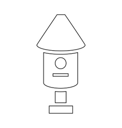 Bee hive icon outline style vector