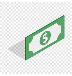bill dollar isometric icon vector image