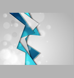 blue grey tech material background with bokeh vector image