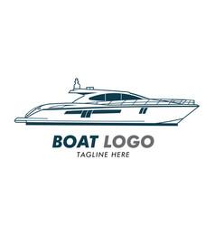 Boat logo design vector