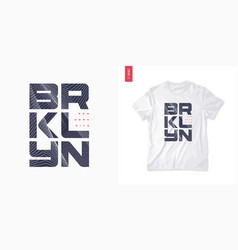 brooklyn abstract geometric t-shirt design vector image