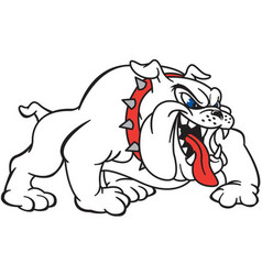 bull dog logo mascot vector image