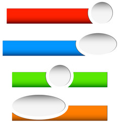 button or banner elements colorful label tag for vector image
