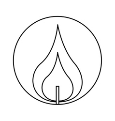 Candle first communion icon vector