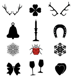 Christmas icons2 vector image