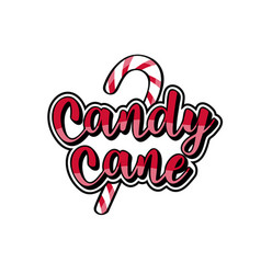 christmas theme candy with candy cane text vector image