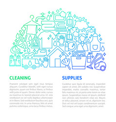 Cleaning services line template vector