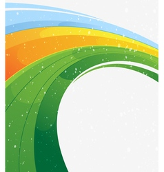 Concentric abstract background vector image