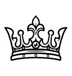 Crown king vintage tattoo concept vector