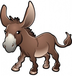 cute donkey vector image
