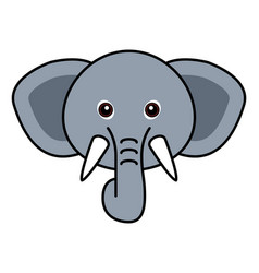 cute elephant cute animal faces vector image