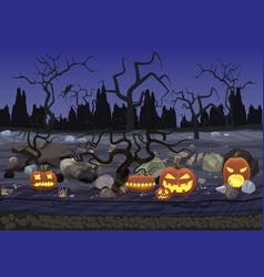 dark night scary horror halloween background vector image