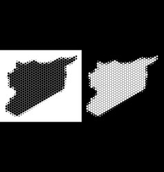 Dotted halftone syria map vector