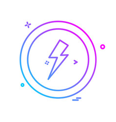 electric current icon design vector image