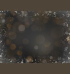 elegant christmas golden glitters on black vector image