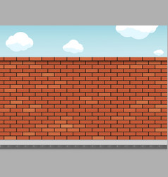 Empty blank red brick wall on a city street vector