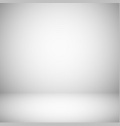 Empty white and gray light studio room interior vector