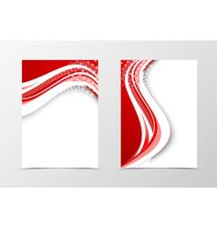 Front and back digital flyer template design vector