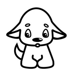 funny little dog puppy pet cartoon dog domestic vector image
