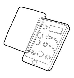 Gadget disassembled icon outline style vector