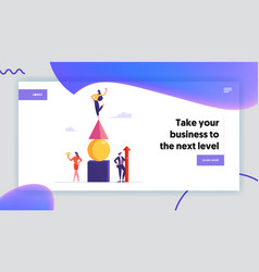 goal achievement success website landing page vector image