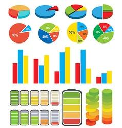 Graphs charts vector