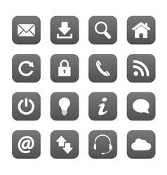 Grey web buttons vector