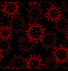 hand drawn black and red doodle sketch seamless vector image