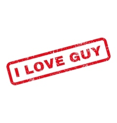 I Love Guy Text Rubber Stamp vector image